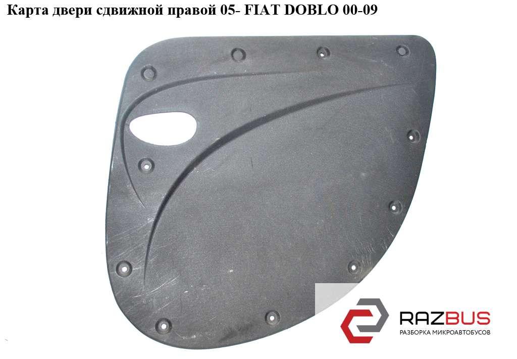 735421787 Карта двери сдвижной правой 05- FIAT DOBLO 2000-2005г