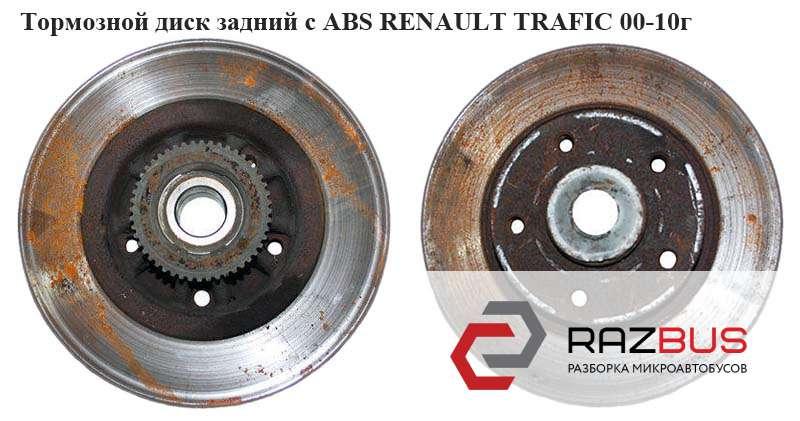 7711130076, 8200555069, 8671019313 Тормозной диск задний с АВS R16 D280 RENAULT TRAFIC 2000-2014г