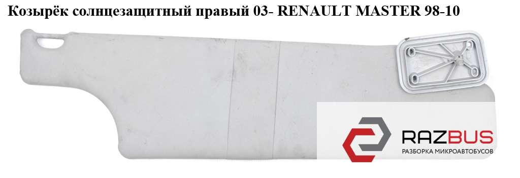 Козырёк солнцезащитный правый 03- RENAULT MASTER II 1998-2003г