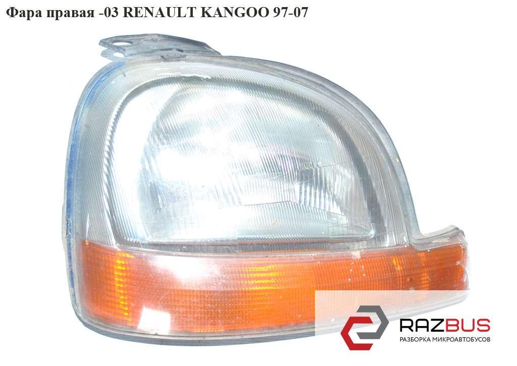 7701044038, 7701044040, 7701048696 Фара правая -03 RENAULT KANGOO 1997-2007г