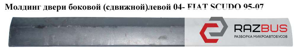 1495789077, 1496616077 Молдинг двери боковой (сдвижной) левой - правой 04- CITROEN JUMPY II 2004-2006г