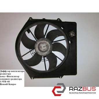 Диффузор вентилятора радиатора 1.2i 8v с конд. RENAULT KANGOO 1997-2007г