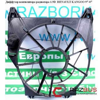 Диффузор вентилятора радиатора 1.9D RENAULT KANGOO 1997-2007г