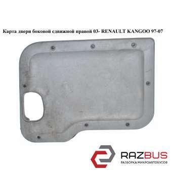 Карта двери боковой сдвижной правой 03- RENAULT KANGOO 1997-2007г RENAULT KANGOO 1997-2007г