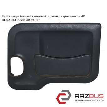 Карта двери боковой сдвижной правой с карманчиком -03 RENAULT KANGOO 1997-2007г RENAULT KANGOO 1997-2007г