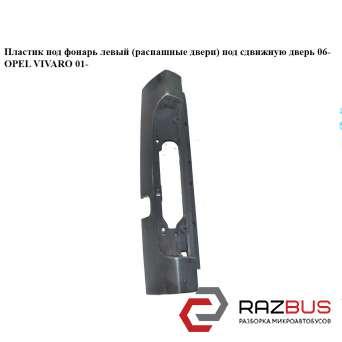 Пластик под фонарь левый (распашные двери) под сдвижную дверь 06- RENAULT TRAFIC 2000-2014г RENAULT TRAFIC 2000-2014г