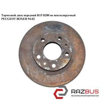 Тормозной диск передний 2.5D R15 не вентил. PEUGEOT BOXER 1994-2002г