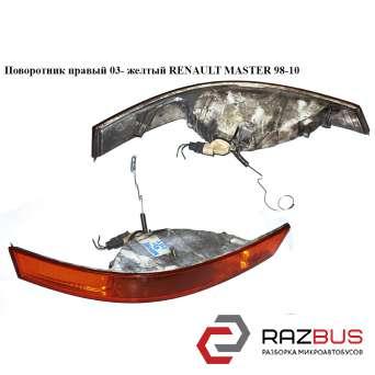 Поворотник правый 03- желтый RENAULT MASTER III 2003-2010г