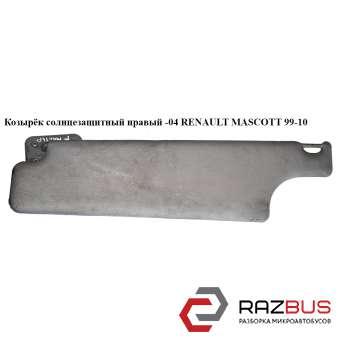 Козырёк солнцезащитный правый RENAULT MASCOTT 1999-2004г