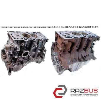 Блок двигателя голый 1.5DCI 06- стартер спереди RENAULT KANGOO 1997-2007г