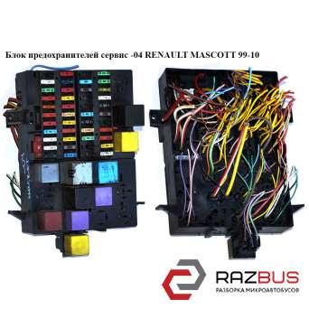 Блок предохранителей сервис RENAULT MASCOTT 1999-2004г