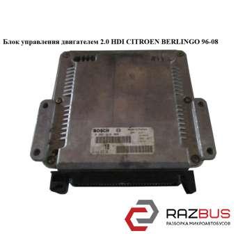 Блок управления двигателем 2.0 HDI Bosch PEUGEOT PARTNER M49 1996-2003г PEUGEOT PARTNER M49 1996-2003г