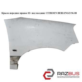 Крыло переднее правое 03- под молдинг PEUGEOT PARTNER M59 2003-2008г